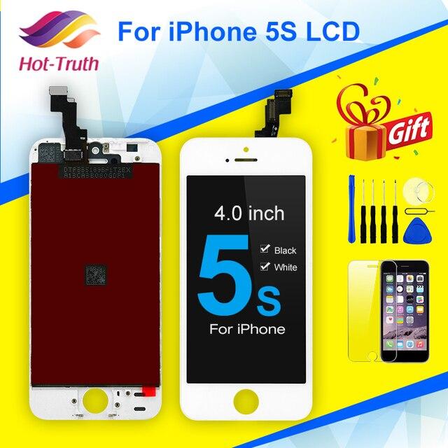 Đen Trắng Màn Hình LCD Cho iPhone 5S Màn Hình Hiển Thị LCD A1453 A1457 A1518 A1528 A1530 A1533 Màn Hình LCD Hiển Thị Màn Hình Cảm Ứng bộ Số Hóa