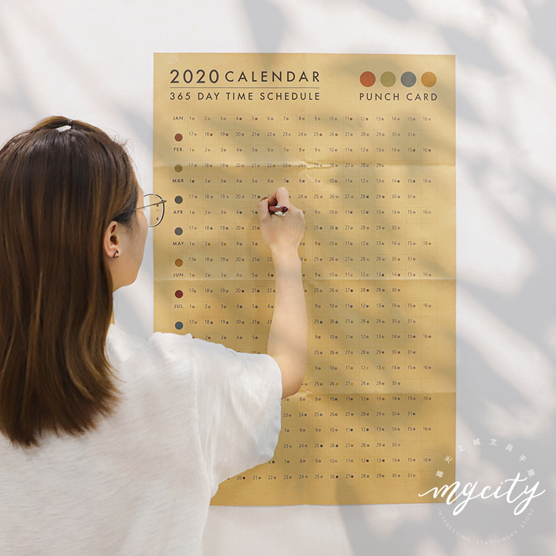 Quartet Series Agenda 2020 365days Paper Wall Calendar Daily Planner Notes Very Large Study TO DO LIST Kawaii School Supplies
