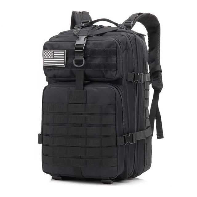 50L Large Capacity Men Army Military Tactical Backpack 3P Softback Outdoor Waterproof Bug Rucksack Hiking Camping Hunting Bags 3