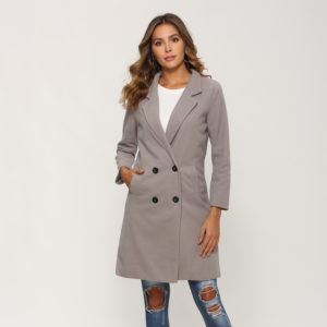 Women Autumn Winter Woollen Coat Long Sleeve Turn-Down Collar Oversize Blazer Outwear Jacket Elegant Overcoats Loose Plus Size(China)