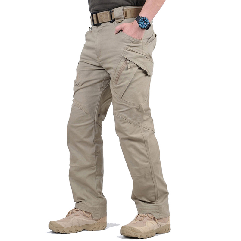 IX8 Tactical Cargo Pants Men Army Combat SWAT Military Pants Mens Multi-pocket Stretch Flexible Waterproof Quick Dry Trousers