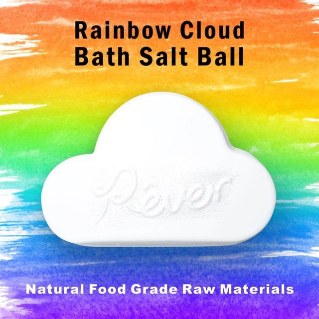 1pc 160g Rainbow Cloud Natural Bath Bomb Organic Moisturizing Bubble Bath Salt Ball Body Essential Oil Bubble Bath TSLM1 2