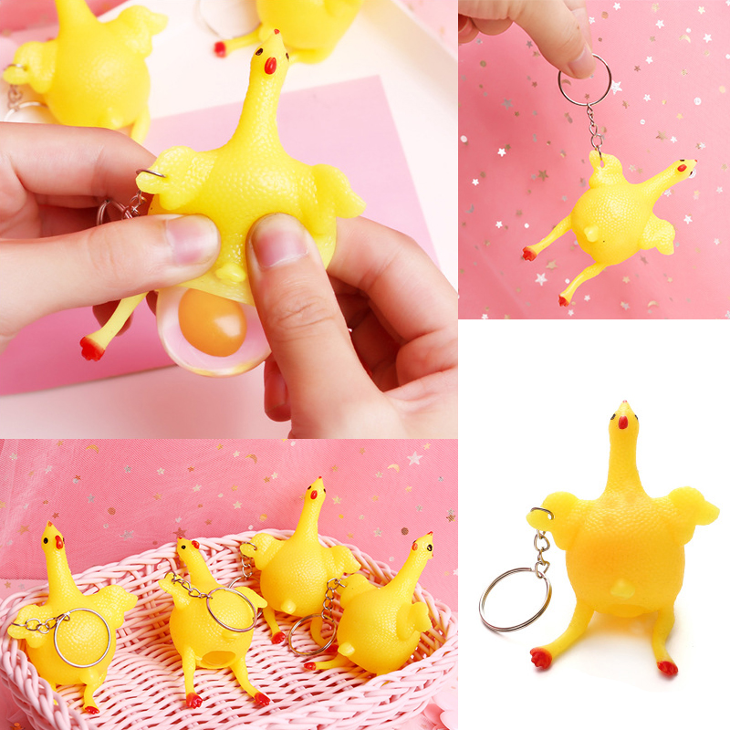 Mini Cartoon Squishy Cute Chicken Creative Funny Venting Cat Antistress Figure Squeeze Smooshy Relief Gift Decompression Kid Toy