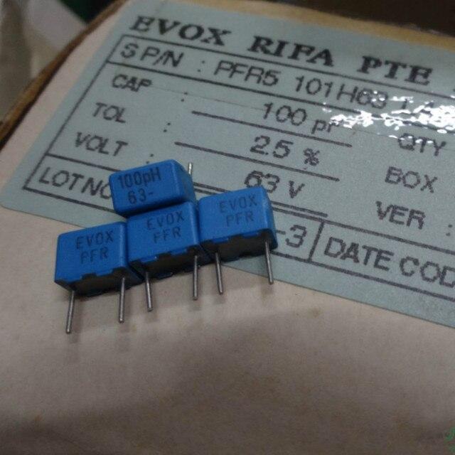 20PCS החדש EVOX PFR5 100PF 63V P5MM MKP 101 סרט EVOX RIFA PFR 100P 0.0001 uf/63 v 0.1NF 63VDC 101/63V
