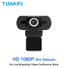 HD 1080P Mini Webcam Computer PC WebCamera Anti-peeping Rotatable Camera for Live Broadcast Video Conference Work