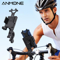 ANMONE-Soporte de teléfono para manillar de bicicleta, soporte de montaje con GPS para Xiaomi y Samsung