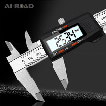 150mm Fraction / InchStainless Steel Digital Display Caliper High Precision MicrometerDepth Measuring Tool LCD Vernier