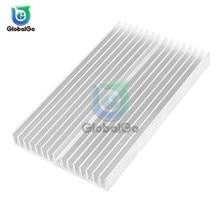 цена на 100X60X10 Computer Heatsink Cooler Cooling Aluminum Heat Sink Heatsink for LED Amplifier Transistor