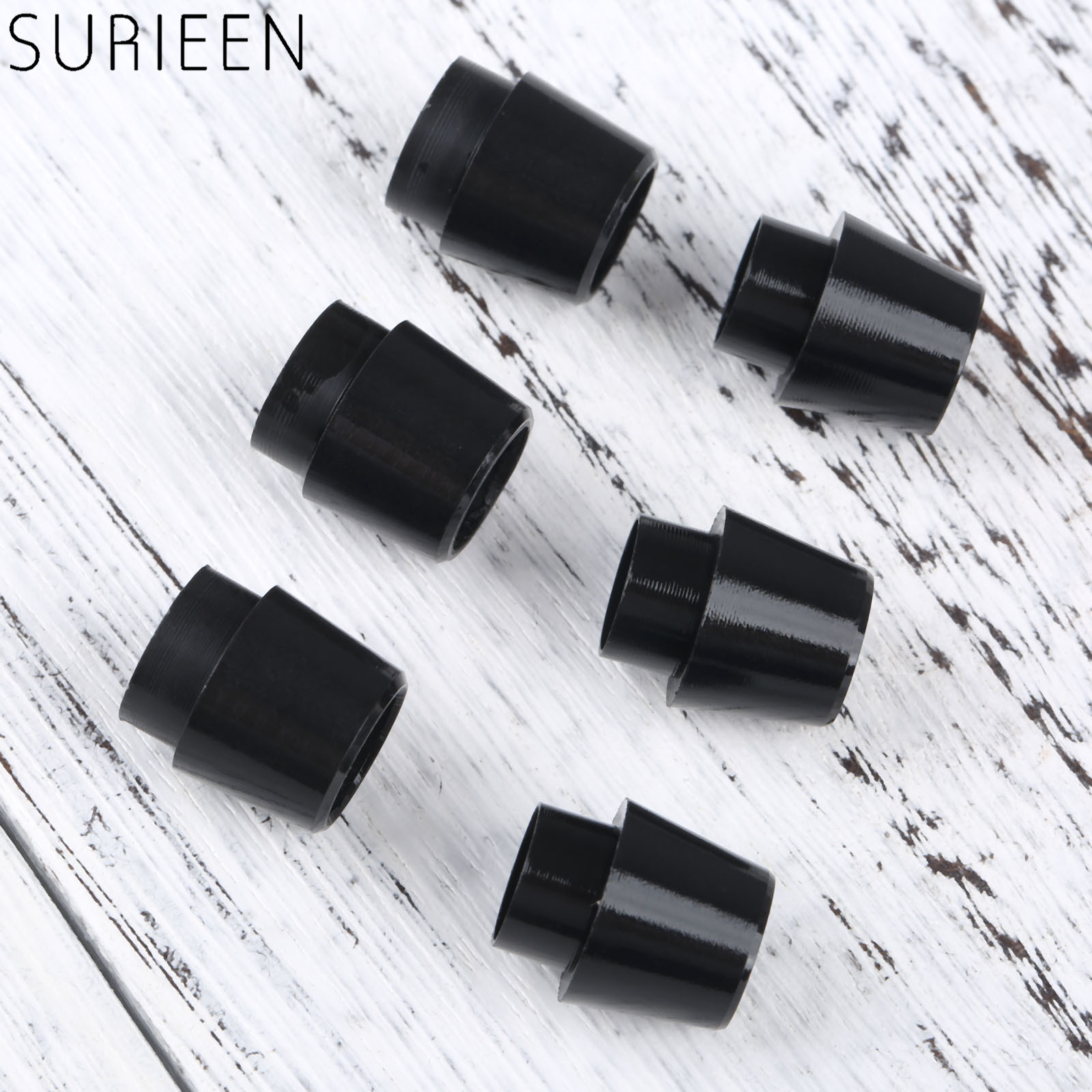 SURIEEN 5Pcs/Lot Black Golf Ferrules Fit For Callaway 815 RAZRX-hot2 Shaft Sleeve Adapter Tip Size 0.335 /0.350 Golf Accessories
