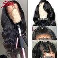Гладкие бразильские парики Remy из 360 натуральных человеческих волос на сетке спереди, волнистые волосы 4x4, парик на сетке с застежкой 13x4, пред...