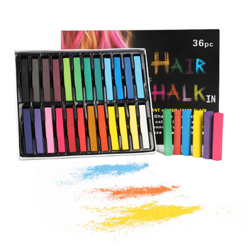 Color chalk hair dye chalk 12 color 24 color 36 color set disposable hair color chalk color pastel color powder painting powder фото