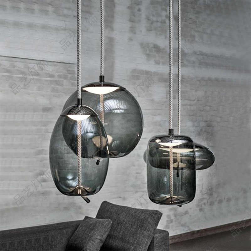 Светодиодный светильник в стиле ретро со стеклянными шариками, подвесной светильник s с абажуром для спальни, гостиной, прихожей, столовой, домашнего декора
