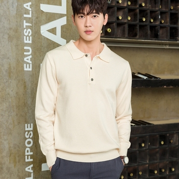 Spring and Autumn  Men 's POLO pullover  men Cashmere sweater Knitted Pullover  Cashmere Sweater Men Jumper sweater top 1