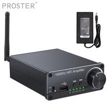 Prozor 100W + 100W amplificateur Audio amplificateur de puissance numérique optique Coaxial USB vers convertisseur Audio analogique récepteur Bluetooth 5.0