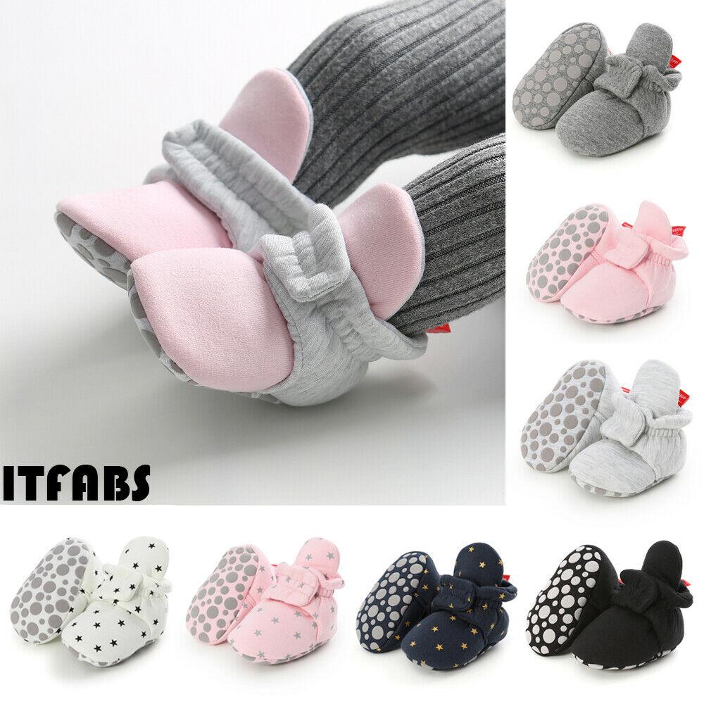 Newborn Baby Soft Warm Crib Shoe Infant Boy Girl Boots Booties Prewalker 0-18M
