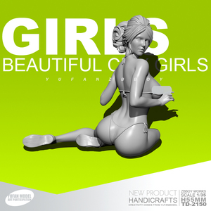 1/35 Resin Figure Kits GIRLSBeach girl model self-assembled TD-2150