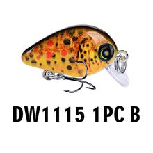 DW1115 Funny Simulation Lifelike Fishing Lure Fish Crankbait Wobbler Tackle Artificial Swimbait Fishing Accessories(China)