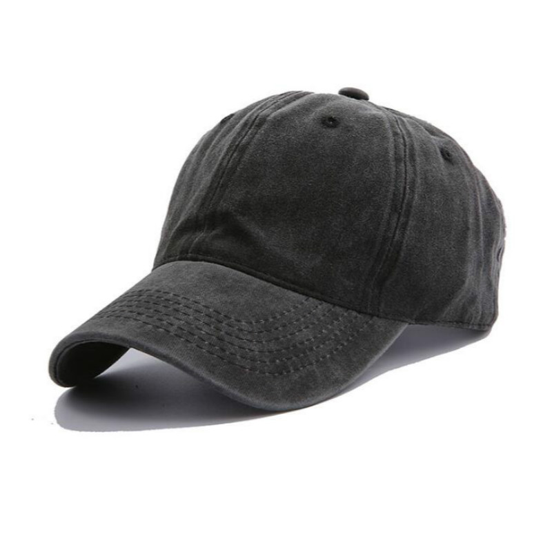 solid color washed cotton baseball cap hip hop casual make old blank snapback hat cap men retro curved sun hat trucker hat bone