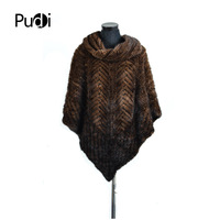 SRR007 4 genuine mink fur shawl Russian women's winter Scarves poncho with ring brown color real mink fur jacket /coat outwear