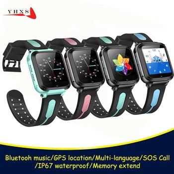Seguimiento de ubicación inteligente por GPS, llamada de emergencia, Monitor remoto, cámara, reloj de pulsera para niños, estudiantes, electrónica, Bluetooth, música, reloj de teléfono