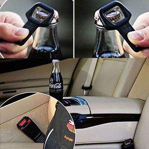 Image 3 - EAFC Universal Car Safety Belt Clip Car Seat Belt Buckle Vehicle mounted Bottle Openers Car Accessories