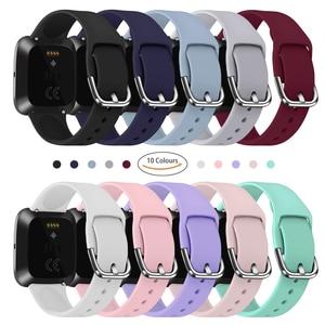 Image 5 - Duszake – bracelet de rechange pour Fitbit Versa/Versa 2, réglable, en Silicone, pour montre intelligente