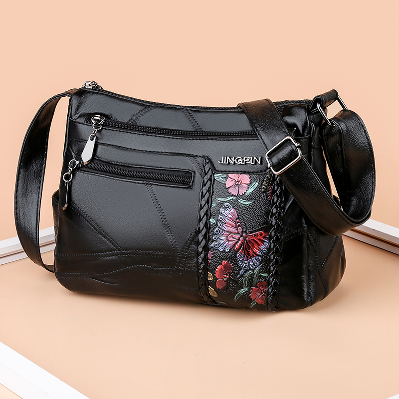 Women Luxury Designer Genuine Leather Shoulder Bags For Ladies Printed Bags Fashion Female Handbag  Girl Hand Bags 2020