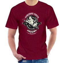 T Shirt Dangerous Curves Mechanic On Duty Mashup Tshirt Tee Dtg Gyms Fitness Tops T-Shirt 0840W