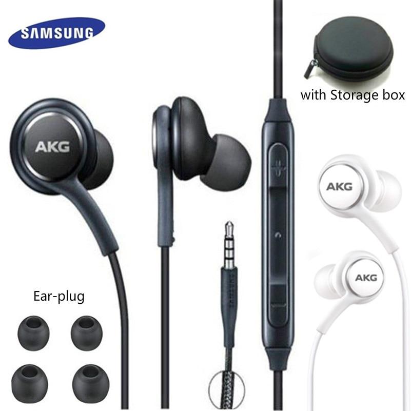 Наушники-вкладыши AKG, 3,5 мм, с микрофоном, проводная гарнитура для смартфонов Samsung Galaxy S8 S9 s10 huawei xiaomi