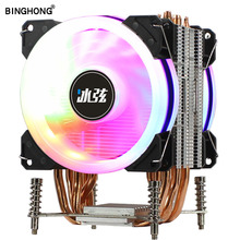 CPU radiator 6Copper Heatpipe 2011 CPU Cooler Motherboard Cooling Fan 90mm with RGB For LGA X79 X99 X299 Motherboard cooling FAN