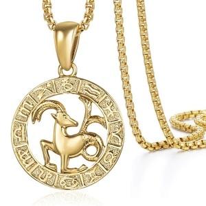 Image 4 - Pendentif signe du zodiac, 12 constellations, doré, pour homme et femme, bijou avec motif horoscope, bélier et lion, pour collier, vente en gros, dropshipping, GPM24