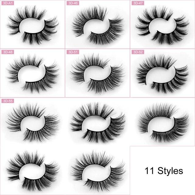 Sexysheep 5 pares 3d vison cílios postiços natural/grosso longo olho cílios wispy maquiagem beleza extensão ferramentas 6