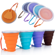 4PCS 270ML Folding Cups Silicone Retractable Collapsible Coffee Outdoor Sport Travel Water Cup