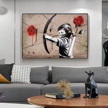 Impression of Love Arrow Figure Painting Print Canvas Painting Poster Home Interior Room Bedroom Wall Decoration Art (Unframed)