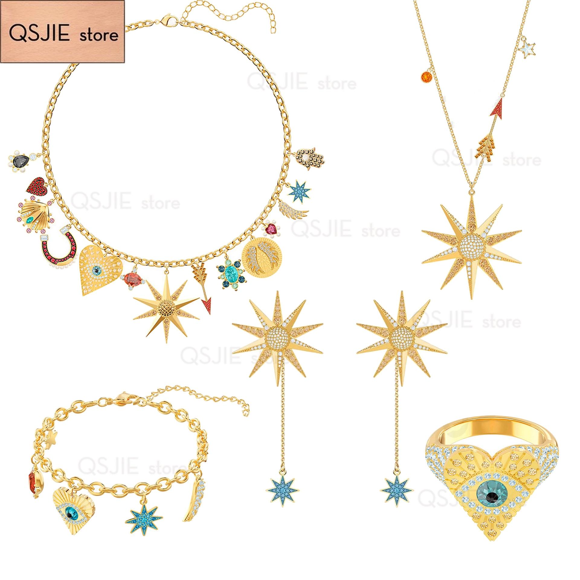 QSJIE High quality SWA Tarot series of women's Pendant Necklace Charm of fashion jewelry