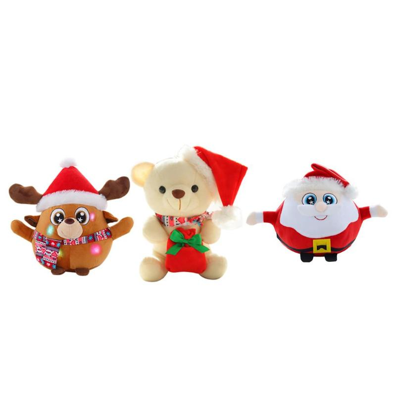 Xmas Electric Santa Claus Dancing Doll Light Lamp Toys Children Gift Party Decor Effectively Create Festival Atmosphere