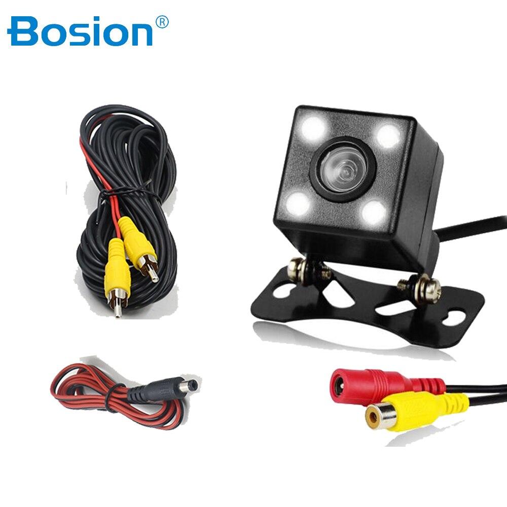 170 ° широкоугольная Автомобильная камера заднего вида HD видео камера заднего вида 4 светодиодный камера ночного видения парковочная камера