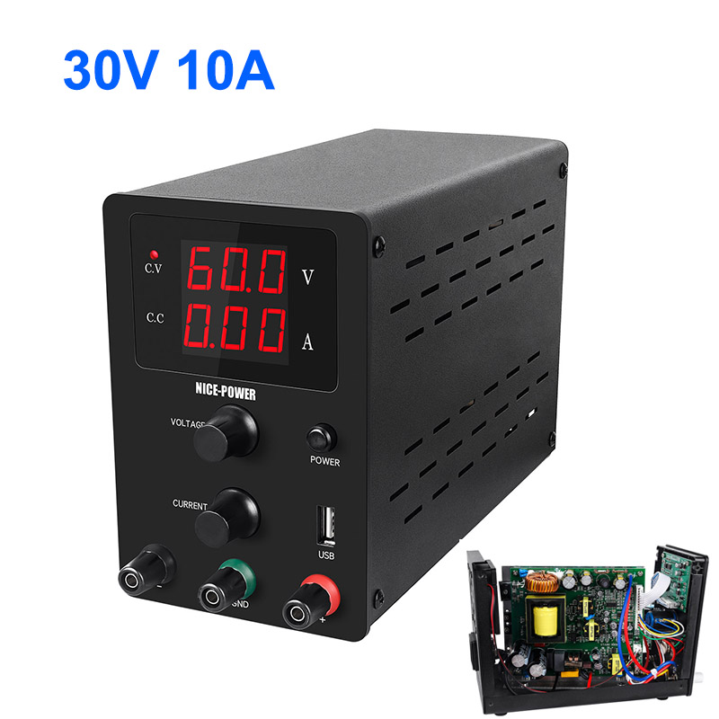 Variable Adjustable Switch Laboratory Icro Power Supply DC Desktop Power Supplies Digital 30v 10a Power Supply Support USB 30V