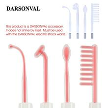 DARSONVAL 4Pcs High Frequency Facial Glass Tubes Hair Massager Electrode Wand Replacement Acne Spot Remover Orange Ray Face Care