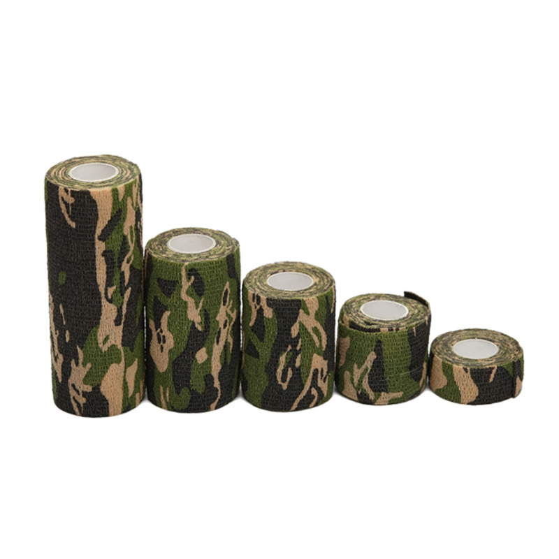 Camouflage Bandage First Aid Kit 2.5/5/7.5/10/15cm Self-adhesive Cshesive Sports Body Gauze Vet Medical Tape Security Protection