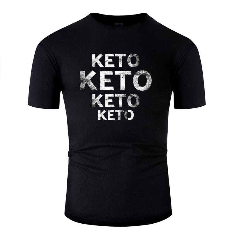 Novelty Classical Ketogenic Diet Tshirt For Men 2019 Graphic Solid Color Tee Shirt Anti-Wrinkle Hip Hop 100% Cotton image