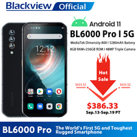 Blackview-BL6000 프로 5G 스마트폰, IP68 방수, 48MP 트리플 카메라, 8GB RAM, 256GB ROM, 6.36 인치, 글로벌 버전 휴대폰