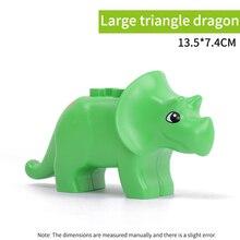 legoing duploed Jurassic World dinosaurs Animal Big Size Accessories Series Building Blocks Brick Figures Toys For Children kids