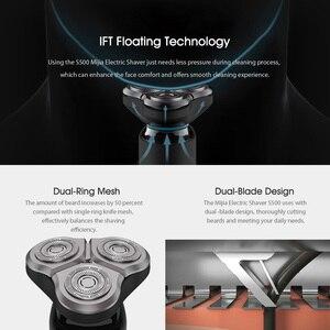 Image 4 - Xiaomi Mijia 電気シェーバー S500 防水男性カミソリ髭トリマー 3 ヘッドフレックスドライ、ウェット洗えるデュアル刃 Led ディスプレイ