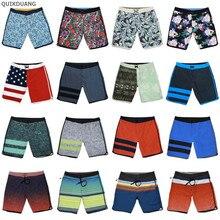 Шорты-бермуды мужские пляжные, брендовые, эластичные пляжные, быстросохнущие, водонепроницаемые, разноцветные, повседневные