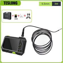 TESLONG NTS500 Borescope impermeabile 5.5mm obiettivo 1080P 5.0 pollici schermo LCD endoscopio fotocamera per auto 2.0MP telecamera di ispezione