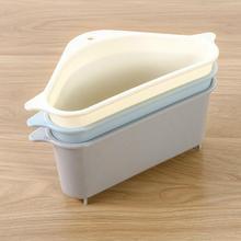Сливная стойка для раковины, бытовая кухонная стойка для овощей, треугольная складная коробка для хранения, удобная корзина для хранения без ударов