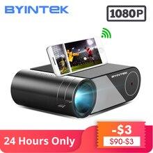 BYINTEK K9 Full HD 1080P LED taşınabilir film oyun ev sineması Mini projektör Beamer (isteğe bağlı çoklu ekran akıllı telefon Tablet için)