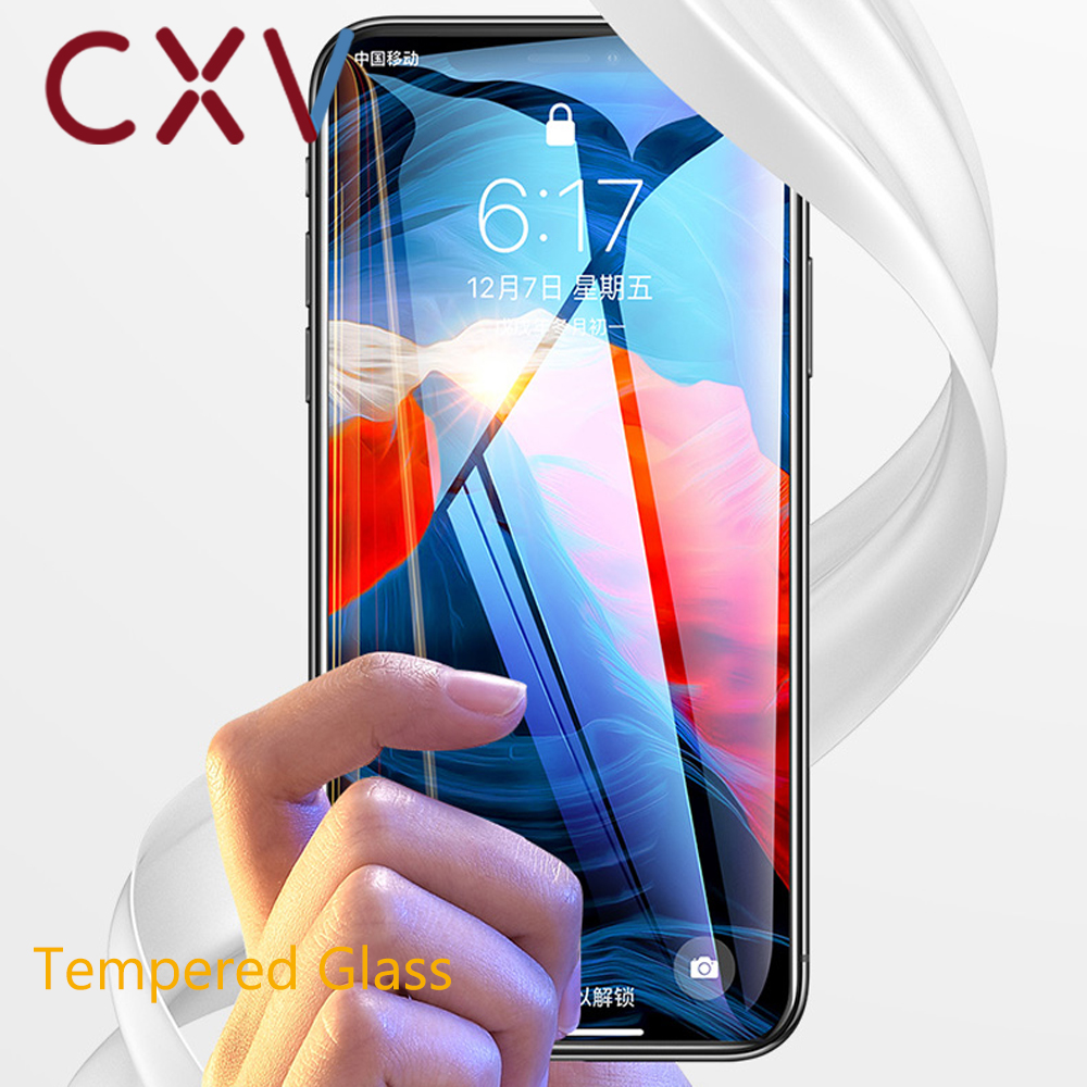 CXV Phone Protective Tempered Glass For IPhone 8 7 6 6s Plus X XS MAX XR Screen Protector Glass For IPhone X XS MAX XR Glass