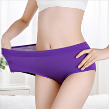 Panties Underwear Modal Large-Size Women Female Mid-Waist Jin 200's Fat Sister Solid